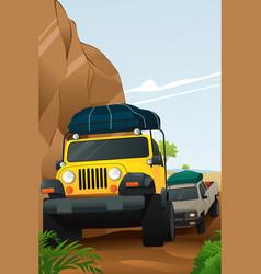 Offroad adventure vector