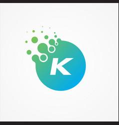 pixel symbol letter k design minimalist vector image
