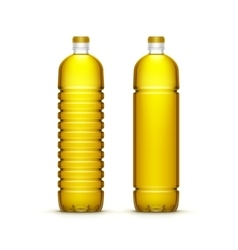 Plastic Sunflower Olive Oil Blank Bottle vector image