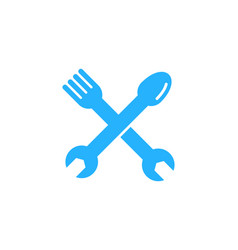 repair food logo icon design vector image