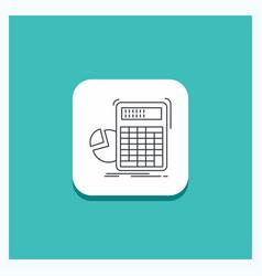 Round button for calculator calculation math vector