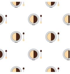 Round eye shadow pattern flat vector