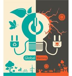Save Energy Save World vector