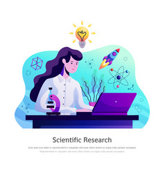 Scientific research abstract composition vector