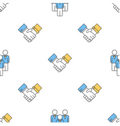 Seamless pattern with business people vector