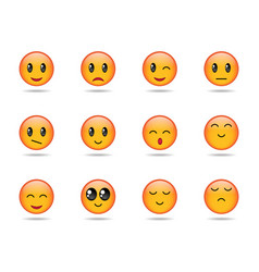 set of emojis vector image