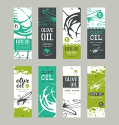 Set of templates label for olive oil vector image