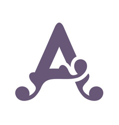 sign of the letter a vector image