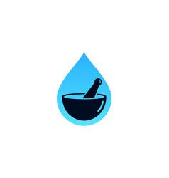 splash medicine logo icon design vector image