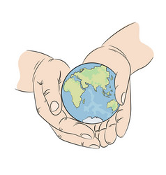 Take care planet earth ecology problem illu vector