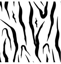 texture wild animal skin zebra seamless pattern vector image