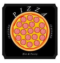 The food pizza vector