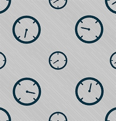 Timer sign icon Stopwatch symbol Seamless pattern vector image