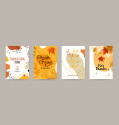 trendy abstract thanksgiving templates good vector image