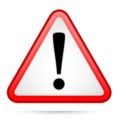 triangle warning sign with exclamation point vector image