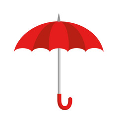 Umbrella protective isolated icon vector
