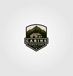 vintage cabins logo design vector image
