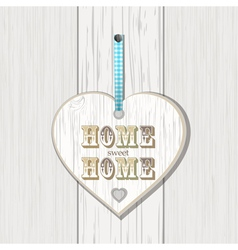 wooden home sign on white wood vector image