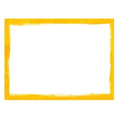 Yellow grunge frame vector image