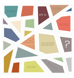 Abstractc geometric layout vector image