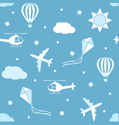 seamless pattern sky background vector image