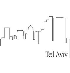 Tel aviv city one line drawing vector