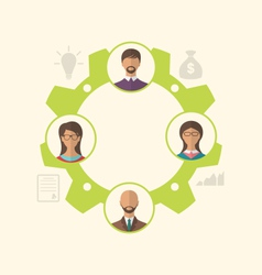 unity of business people leading to success - vector image vector image