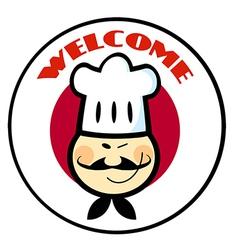 Cartoon chef logo vector image