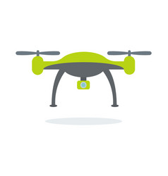 dron with camera vector image