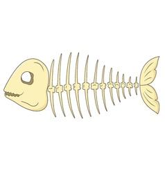 Fish skeleton vector