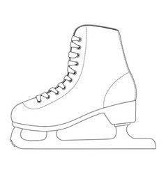 ice skate outline drawing side view vector image