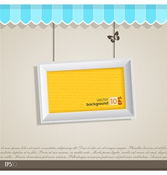 Vintage frame with place for your text vector image vector image
