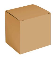 blank cardboard box mockup realistic style vector image vector image