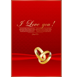 Elegant red background with rings vector image vector image