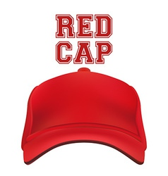 Red Cap isolated on white vector image
