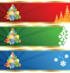 winter blank horizontal vector image vector image