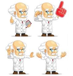 Scientist or Professor Customizable Mascot 4 vector image vector image
