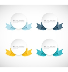 Set of labels with ribbons vector image