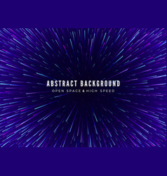 Abstract background travel through time and space vector
