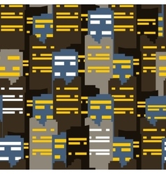 Abstract city seamless pattern vector image