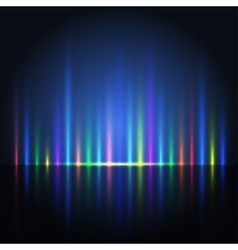 Abstract color light lines vector