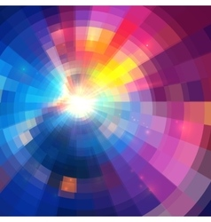 Abstract colorful circle technology vector image