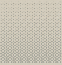 abstract halftone grey square pattern on brown vector image