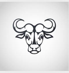 African buffalo logo icon design vector