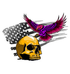 american eagle with usa flags vector image