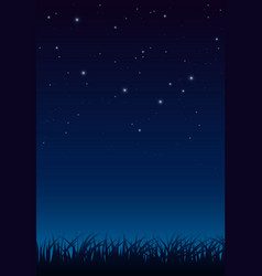 blue dark night sky with lot shiny stars and vector image