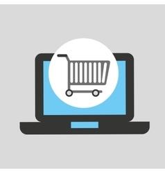 buying cart laptop technology design vector image