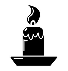 candle icon simple style vector image
