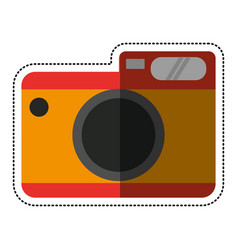 cartoon photo camera picture travel vector image