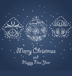 Christmas ornaments made from hand draw vector